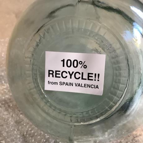 "Valencia ""catorce"" glass bottle flower vase(ヴァレンシア""14""カトルチェ ガラスボトル  フラワーベース)"