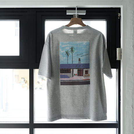 【Gray】Blue Bird apartment.×イラストレーター辰巳菜穂 限定Tシャツ