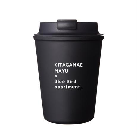 【BLACK・ステッカー付】Blue Bird apartment.×イラストレーター北構まゆ 限定オリジナル ウォールマグ スリーク