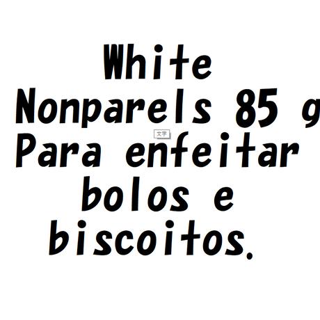 ホワイトノンパレイユ 85g