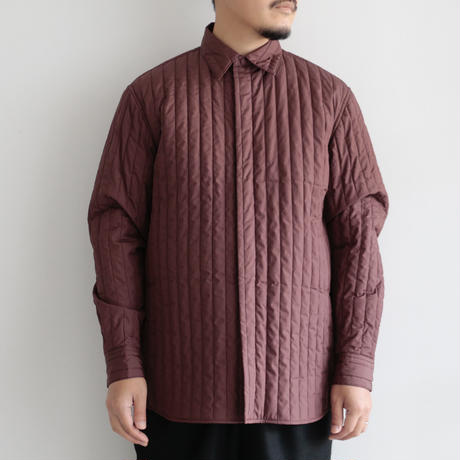 AURALEE / SUVIN HIGH COUNT CLOTH QUILTING SHIRTS(Men's/BORDEAUX)