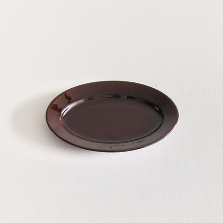 郡司製陶所  /  オーバル皿小(飴)