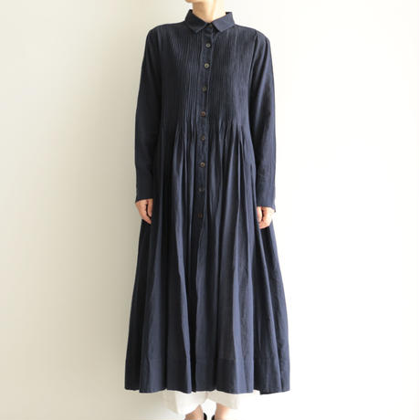 Khadi and Co / Shirt dress(lady's /DK.INDIGO)