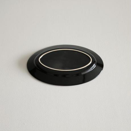 郡司製陶所  /  オーバル皿小(黒)