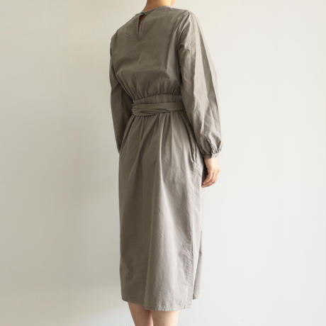 COSMIC WONDER /Organic cotton classic wrapped dress (lady's / Ashen moon)