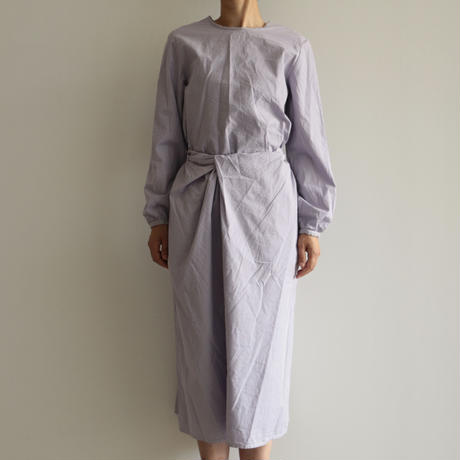COSMIC WONDER /Organic cotton classic wrapped dress (lady's /Violet flame)