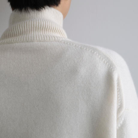 AURALEE / BABY CASHMERE KNIT TURTLE NECK P/O(Lady's/NATURAL WHITE)