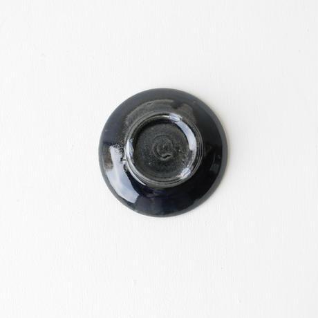 田谷直子/4寸皿(黒瑠璃)