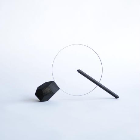 嘉手納重広 / ドライフラワーベース ヤジルシ(多面体/BLACK)