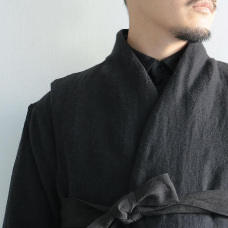 COSMIC WONDER / Beautiful folk down haori vest(Men's/Black)
