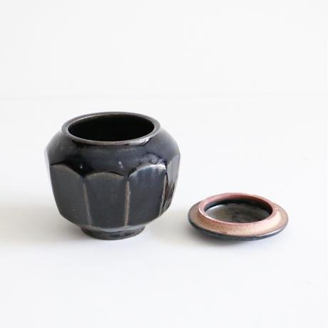 田谷直子 / 面取り壺大(黒瑠璃)