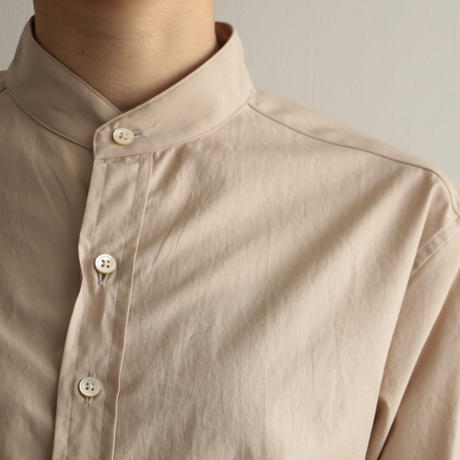 AURALEE / WASHED FINX TWILL SHIRTS (Lady's/ LIGHT BROWN)