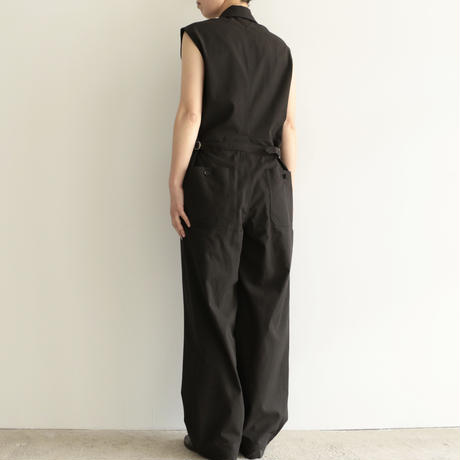 AURALEE / FINX HARD TWIST GABARDINE SLEEVELESS JUMPSUIT(Lady's/BLACK)