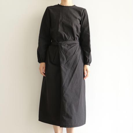 COSMIC WONDER /Organic cotton classic wrapped dress (lady's /Black)