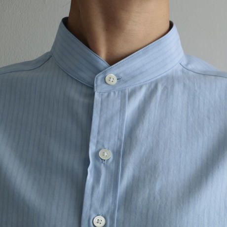 AURALEE / WASHED FINX TWILL SHIRTS (Lady's/ BLUE STRIPE)