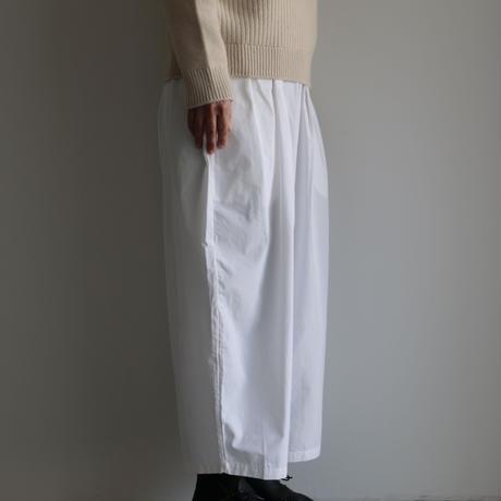Khadi and Co /ライトキャンバスワイドパンツ〈 Star 〉 (lady's /White)