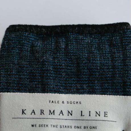 KARMAN LINE/ TAURUS細ボーダーリブソックス(lady's/BLUE)