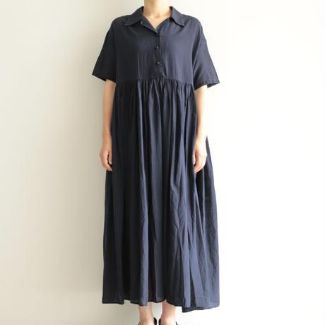 Khadi and Co / gather dress(lady's /DK.INDIGO)