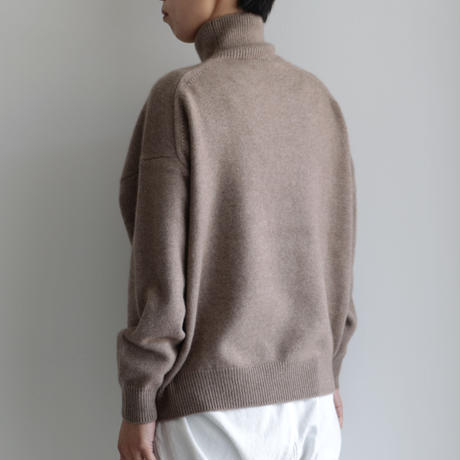 AURALEE / BABY CASHMERE KNIT TURTLE NECK P/O(Lady's/NATURAL BROWN)