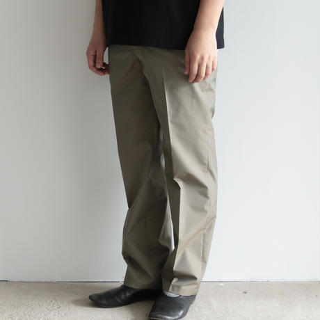 AURALEE / FINX POLYESTER SLACKS(men's/ OLIVE CHAMBRAY)
