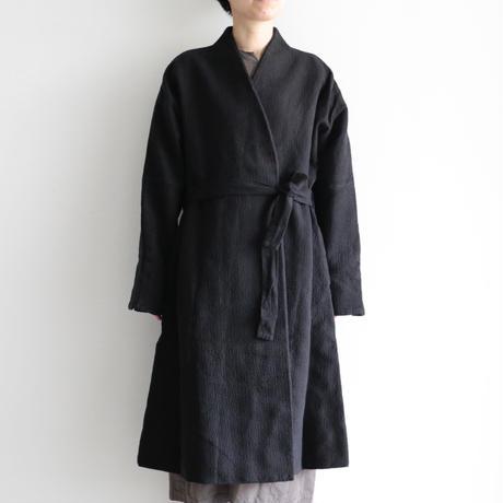 COSMIC WONDER / Flower of life sashiko folk haori(lady's ,men's /Black)