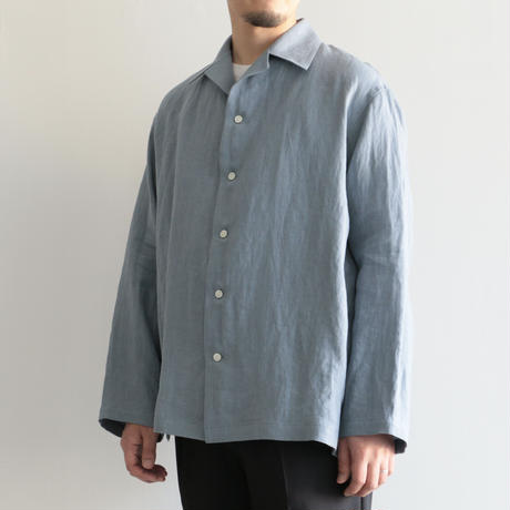 AURALEE / LINEN GABARDINE OVER SHIRTS(men's/ LIGHT BLUE)
