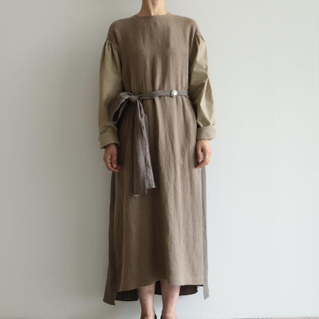 COSMIC WONDER /Ancient mythic ceremony long sleeves dress (lady's /Beige)
