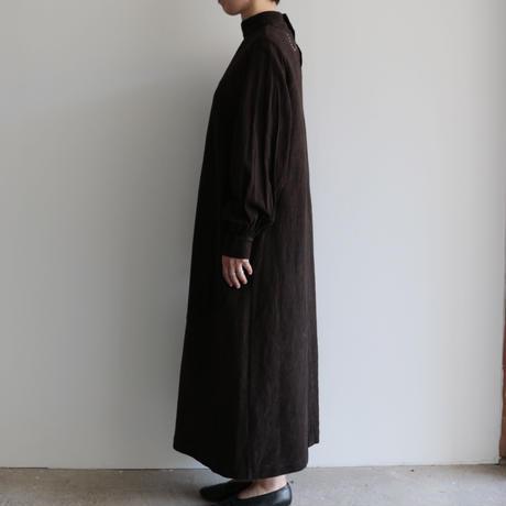 COSMIC WONDER /Flower of life Sashiko work long dresss(lady's  /Earth soil)