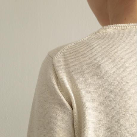 えみおわす /Yaku × Organic cotton sweater (lady's /Beige)