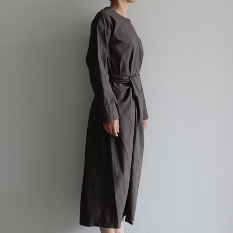 COSMIC WONDER / Wrapped long sleeves dress (lady's /Ancient soot)