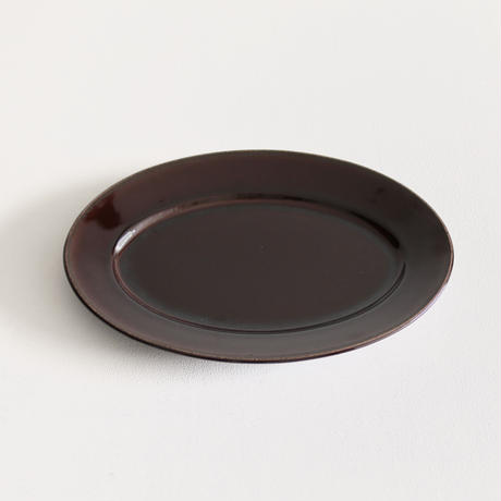 郡司製陶所  /  オーバル皿大(飴)