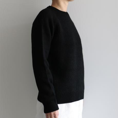 糸衣itoi/MAKI片畦クルーネックプルオーバー(Lady's,Black)