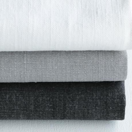 石井すみ子暮らしのデザイン室/手織り布巾(淡い墨)