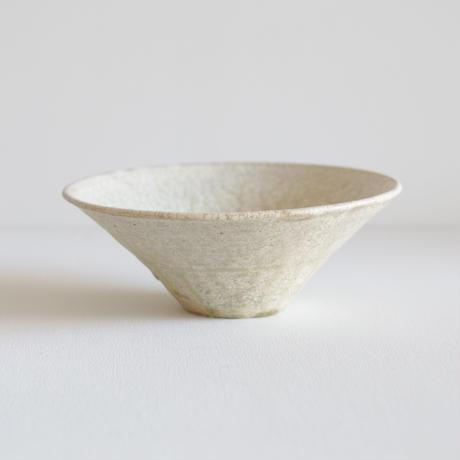 尾形アツシ/ヒビ粉引7寸洋鉢