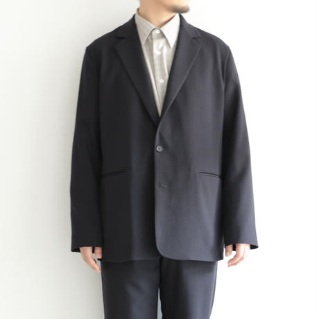AURALEE / HARD TWIST WOOL DOBBY JACKET(Men's/DARK NAVY)