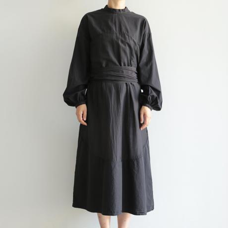 COSMIC WONDER /Beautiful mythic ceremony silk cotton circle indication dress (lady's /Black)