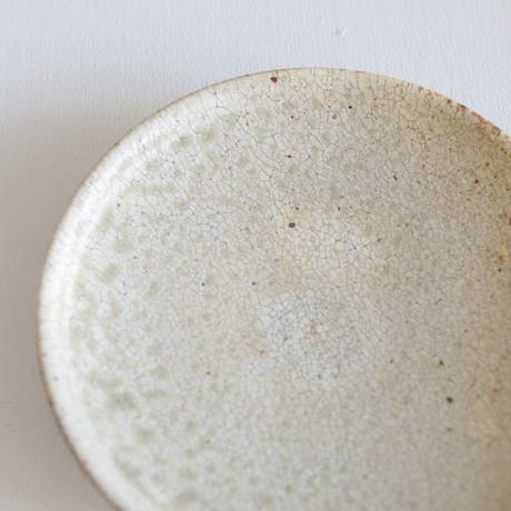 尾形アツシ/ヒビ粉引6寸取皿