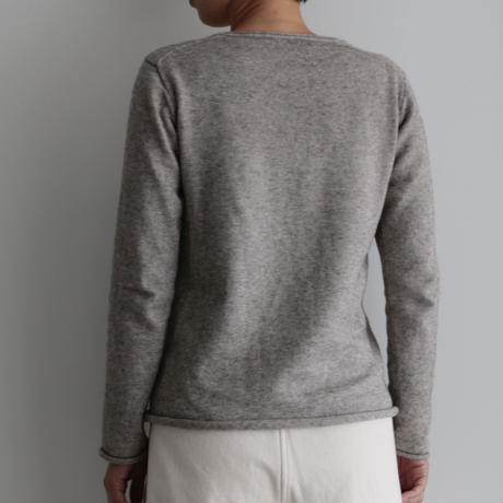 えみおわす /Yaku × Organic cotton sweater (lady's ,men's/Gray)