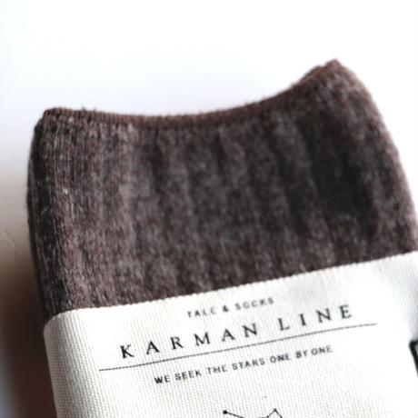 KARMAN LINE/ TAURUSリブウールソックス(lady's/SEPIA)