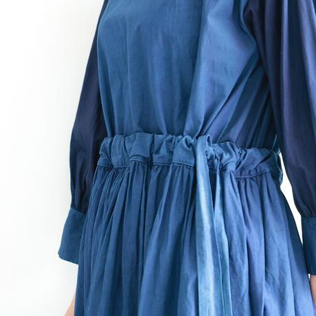 COSMIC WONDER / Farmer Dress(lady's  /Ryukyu indigo)