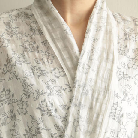 COSMIC WONDER /Khadi  woodblock printing haori robe(lady's/Natural)