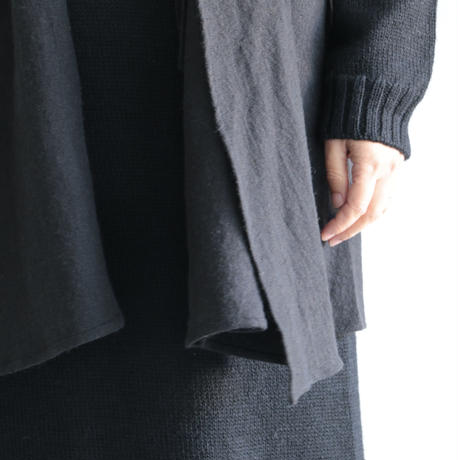 COSMIC WONDER / Beautiful linen wool knit cardigan(lady's/Black)