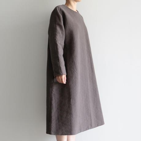 COSMIC WONDER / Flower of life sashiko dress(lady's  /Ancient soot)
