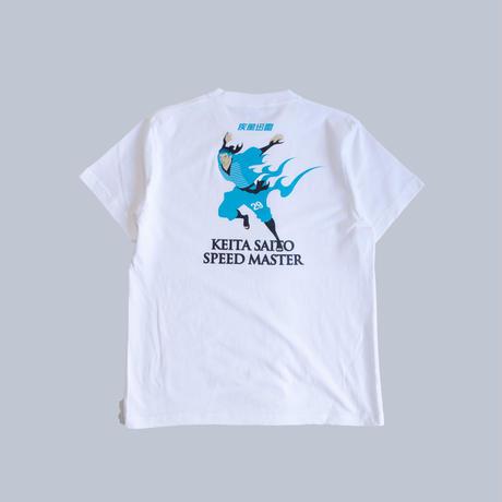 【先行予約】Soccer Junky  × BlauBlitzAkita 齋藤恵太 疾風迅雷 TEE/ホワイト