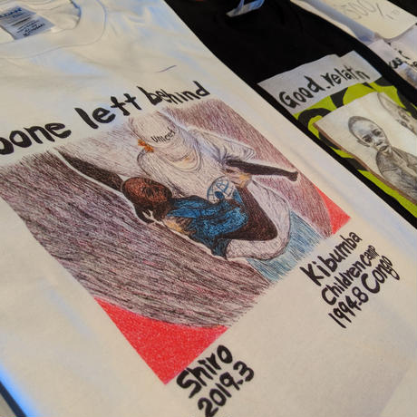 【No one left behind】365日の1日を。メッセージを運ぶTシャツ【大津司郎のアフリカ目撃】【白】
