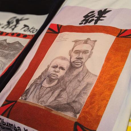 【絆 Man&Boy】365日の1日を。メッセージを運ぶTシャツ【大津司郎のアフリカ目撃】【白】