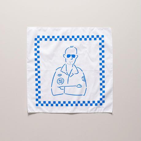 Blue Cab TAXI DRIVER BANDANA White
