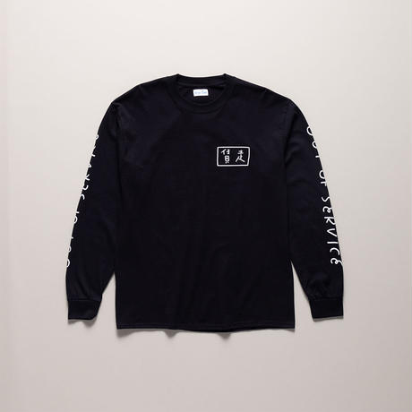 Blue Cab OUT OF SERVICE L/S TEE Black x White