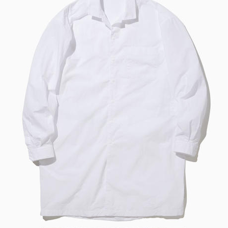 BRIAN WIDE COLLAR LONG  SHIRT-WHITE-