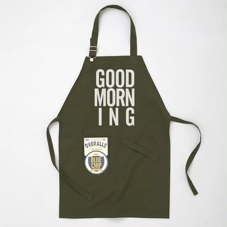 GOOD MORNING STAFF APRON  -OLIVE-